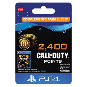 2.400 Call of Duty Black Ops 4 Points PS4