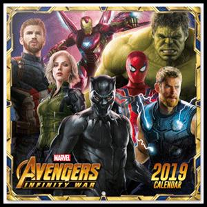 Calendario 2019: Marvel Avengers