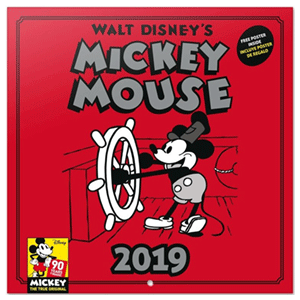 Calendario 2019: Mickey 90 Aniversario