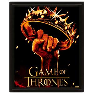 Cuadro 3D Juego de Tronos: Crown