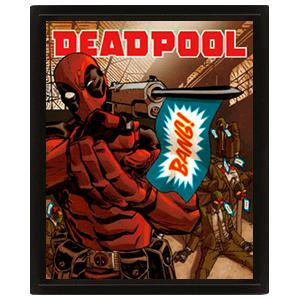 Cuadro 3D Deadpool: Bang