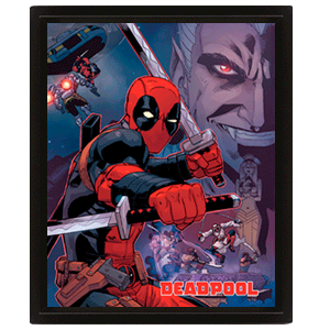 Cuadro 3D Deadpool: Swords
