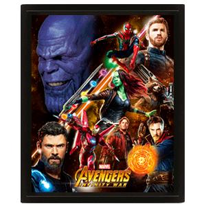 Cuadro 3D Vengadores Infinity War: United
