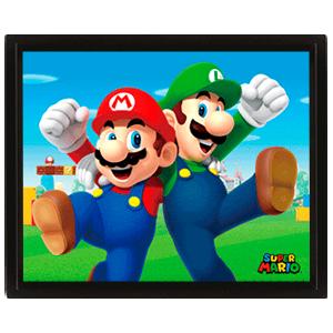 Cuadro 3D Super Mario: Mario & Luigi