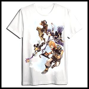 Camiseta Kingdom Hearts Blanca Personajes Talla XL