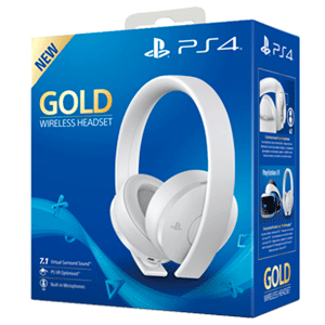 Auriculares Wireless Headset Sony - Gold/White