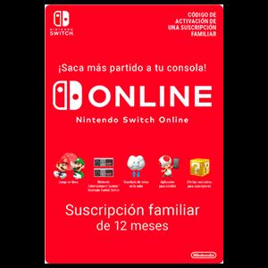365 Días Suscripción Switch Online (Familiar - Hasta 8 Cuentas)