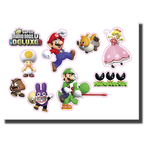 New Super Mario Bros U Deluxe - Set de pegatinas