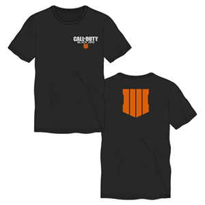 Camiseta CoD: Black Ops 4 Negra Back Logo Talla XXL (REACONDICIONADO)