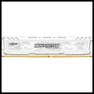 Crucial Ballistix Sport LT DDR4 8GB 2400Mhz - Blanca - Reacondicionado