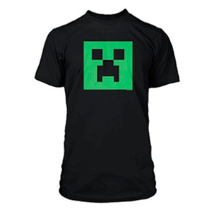 "Camiseta Minecraft ""Creeper Glow in Dark"" Talla XL (REACONDICIONADO)"