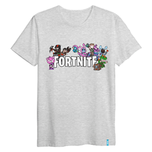 Camiseta Skins Gris Fortnite S (REACONDICIONADO)