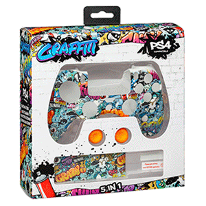 Kit 5 Accesorios mando PS4 Indeca Graffiti 2019