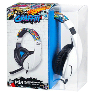 Auriculares Multiplataforma Indeca Graffiti 2019 PS4-XONE-NSW-PC