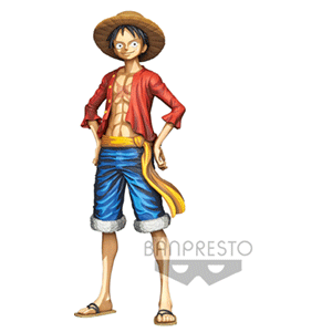 Figura Banpresto One Piece: Monkey D Luffy Grandista Manga Dimensions 27cms