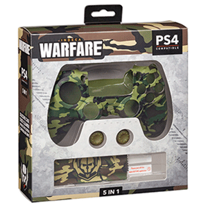 Kit 5 Accesorios mando PS4 Indeca Warfare 2019