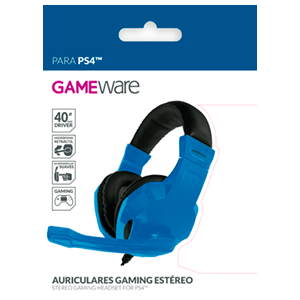 Auriculares Gaming Estéreo GAMEware Azules - Auriculares Gaming
