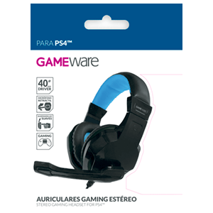 Auriculares Gaming Estéreo GAMEware Negros - Auriculares Gaming