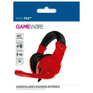 Auriculares Gaming Estéreo GAMEware Rojos