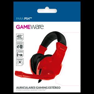Auriculares Gaming Estéreo GAMEware Rojos - Auriculares Gaming