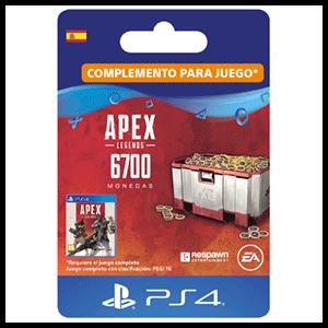 Apex Legends 6,000 (+700 Bonus) Apex Coins PS4