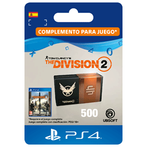 Tom Clancy's The Division 2 - 500 Premium Credits Pack PS4