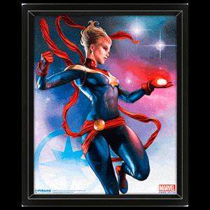 Cuadro 3D Capitana Marvel
