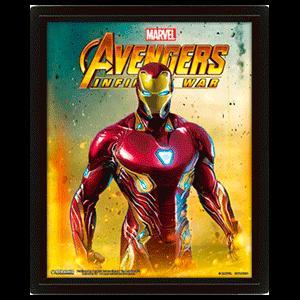 Cuadro 3D Infinity War Iron Man