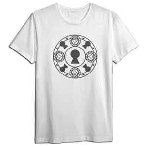 Camiseta Kingdom Hearts Blanca Cerrojos Talla S