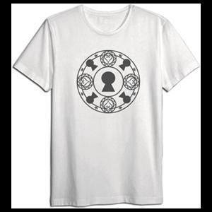 Camiseta Kingdom Hearts Blanca Cerrojos Talla L