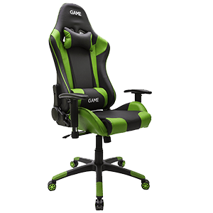 GAME Racing PRO GT300 Verde-Negro Silla Gaming - Reacondicionado