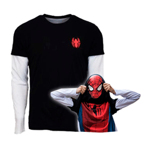 Camiseta Reversible Marvel Spider-Man Talla S