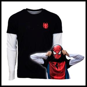 Camiseta Reversible Marvel Spider-Man Talla L