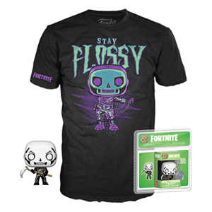 Pack Camiseta y Pocket Pop Fortnite: Skull Trooper Talla M