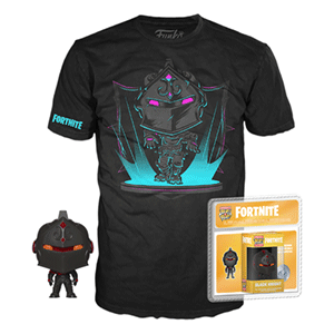 Pack Camiseta y Pocket Pop Fortnite: Black Knight Talla M