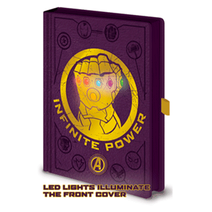 Cuaderno Premium con LEDs Vengadores Infinite Power