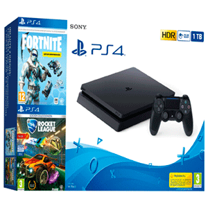 PlayStation 4 Slim 1Tb + Fortnite: Lote Criogenización + Rocket League