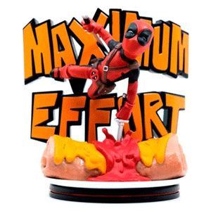 Figura Qfig Marvel: Deadpool Maximun Effort