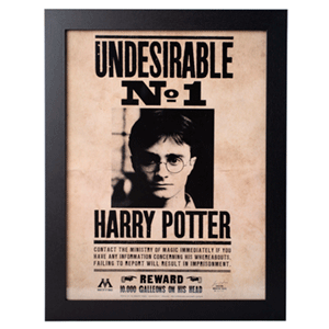 Print Enmarcado Harry Potter: Harry Potter Indeseable nº 1
