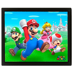 Cuadro 3D Super Mario: Group Run