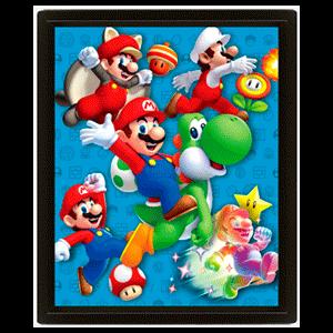 Cuadro 3D Super Mario: Power Up