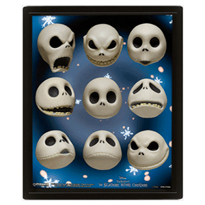 Cuadro 3D Pesadilla Antes de Navidad: Jack