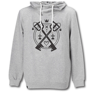 Sudadera Kingdom Hearts Gris Talla XL (REACONDICIONADO)