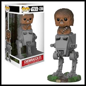 Figura Pop Deluxe Star Wars: Chewbacca en AT-ST (REACONDICIONADO)