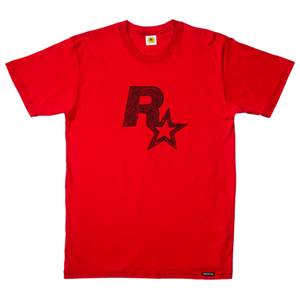 Camiseta Roja Red Dead Redemption Logo Talla XXL (REACONDICIONADO)