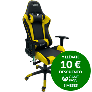 GAME Racing PRO GT300 Amarillo-Negro - Silla Gaming