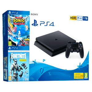PlayStation 4 Slim 1Tb + Fortnite: Lote Criogenización + Team Sonic Racing