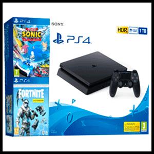 PlayStation 4 Slim 1Tb + Fortnite: Lote Criogenización + Team Sonic Racing