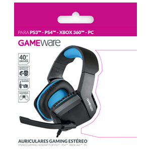 Auriculares Gaming Estéreo GAMEware PS3-PS4-X360-PC