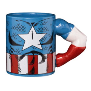 Taza Capitan America 2D